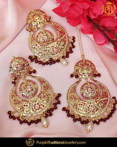 featured:- Jadau Rubby Earrings & Tika Set Shop our latest collection at our store or visit our website today to buy.. You may also DM us OR contact us at 91 9914721111 to buy. Image copyright 2k18 Punjabi Traditional Jewellery WORLDWIDE SHIPPING AVAILABLE Free Shipping in India Cash on delivery available for India All kinds of Debit/Credit Cards or other payment methods are accepted #punjabi #traditional #Wedding #churra #WeddingChurra #punjabichura #bridal #bridalstudio #indianweddi