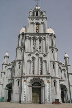 ˚Catholic church in Lucheng County - Shanxi province Place Of Worship, Mongolia, Notre Dame, Dutch, Catholic, Korea, Building, Places, Travel
