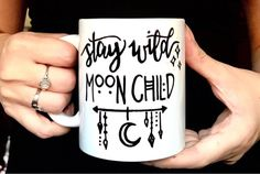 gift gift for her Stay Wild Moon Child gypsy wit Wiccan Decor, Wiccan Crafts, Boho Dekor, Stay Wild Moon Child, Moon Witch, 1 Tattoo, Tattoo Moon, Creation Deco, Tattoos For Kids