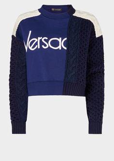 560c6c9669c2 Versace Vintage Logo Demi Felpa-Sweater from Versace Women s Collection.  Half sweater