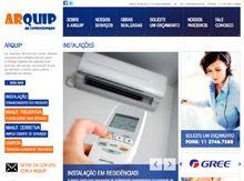 Layout de Site Criado para a Empresa de Climatização Arquipe #criative #site #criacaodesites #arcondicionado #agencia #comunicacaovisual www.visiondesign.com.br