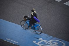 Copenhagen, Denmark - according to wiki 'possibly the most—bicycle-friendly city in the world.'