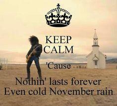 November rain.