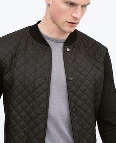 Image 6 of Combined nylon jacket from Zara