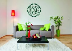 Monogram Wall Decal  Fancy Monogram Font With by MyMonogramHeaven, $16.95