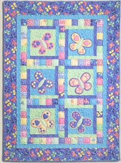 Butterfly Kisses - by Kids Quilts - Quilt Pattern - $20.00 : Fabric Patch, Patchwork Quilting fabrics, Moda fabric, Quilt Supplies, Patterns