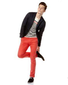 Pantalon d'été couleur corail