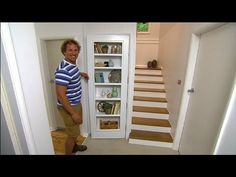 DIY: How to build a bookshelf in a door - YouTube
