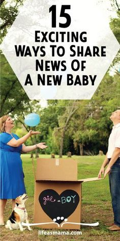 Having a baby is big news and worthy of a creative way to share the joy with family and friends. Love these cute ideas on telling everyone  you're adding to the family!