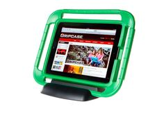 Gripcase iPad Stand. Kid friendly case with handles on all sides for best grip. Many color choices. Great for gaming!
