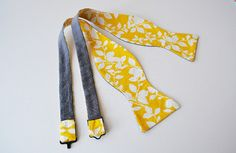 Freestyle Bowtie Reversible Yellow and Gray...this is for you Katie!!! Couldn't pass it up. :)