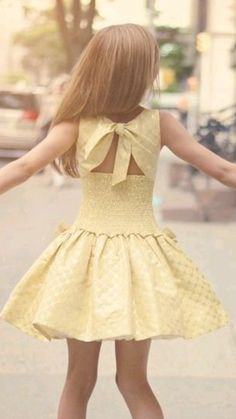 Yellow dress for spring