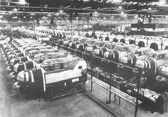Lancaster bomber Production at Chadderton in June 1944