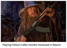 Playing Fallout 4 after months immersed in Skyrim
