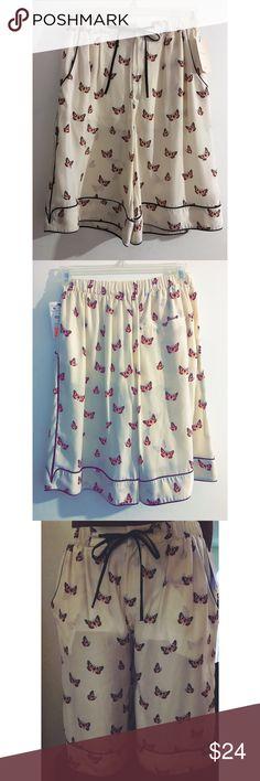 Zara Pajama Style Shorts Butterfly print pajama style shorts. Brand new with tags. Cute and so comfortable. Zara Shorts