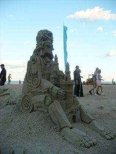 Sculptures de sable .... Photo