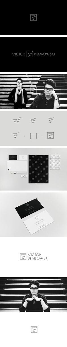 Viсtor Dembowski is interior designer, architect and lecturer. I developed a minimal logo and visual identity for him.