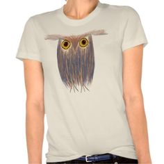 The Odd Owl Organic Fitted Women's Tee. Artwork designed by #OneArtsyMomma.