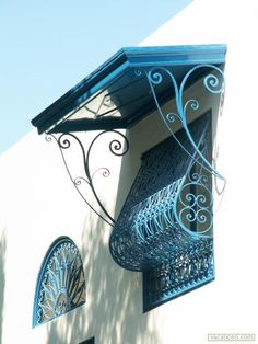 <<< Greek Decor, Balcony Grill, Sidi Bou Said, Door Gate Design, Iron Windows, House Shutters, Window Grill, We Buy Houses, Iron Furniture