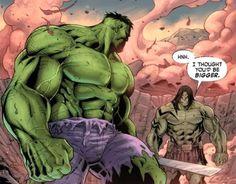 The Hulk and his son, Skaar