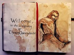 The Hobbit - Thorin Oakenshield (by kinko-white) Hobbit Art, O Hobbit, The Misty Mountains Cold, J. R. R. Tolkien, Geek Art, Middle Earth, Lord Of The Rings, Cool Art, Geek Stuff