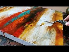 Abstract Painting / Easy /How to paint acrylic abstract painting /Just using palette knife / Demo - YouTube