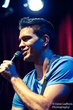 """Andy Grammer playing a couple of songs at our May """"Blue 'n Green"""" showcase."""