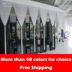 Wholesale 100% Polyester White String curtain for wedding decor or room divider, Free shipping, $11.9-21.93/Set | DHgate