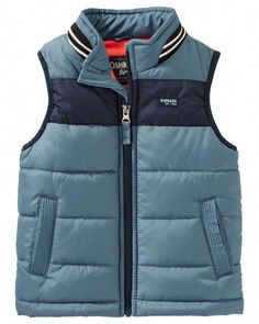 Toddler Boy Quilted Puffer Vest from OshKosh B'gosh. Shop clothing & accessories from a trusted name in kids, toddlers, and baby clothes. Toddler Vest, Toddler Boy Outfits, Kids Outfits, Adventure Outfit, Adventure Clothing, Baby Boy Christmas Outfit, Vest Outfits, Kids Fashion, Puffer Vest