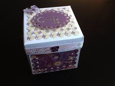 Birthday box Birthday Box, Decorative Boxes, Scrapbook, Cards, Home Decor, Decoration Home, Room Decor, Scrapbooks, Map