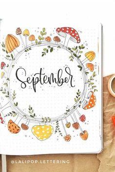 Idée page de garde Septembre ou September pour bullet journal ou bujo
