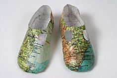 Paper shoes by Isabelle de Borchgrave Baby map shoes by Jennifer Collier Paper shoes by Jennifer Coliier Paper shoes, cover for Naif Magazine Cardbox shoes by Mark O'Brien via Etsy Paper shoes by Martin Margiela Everyday Items, Everyday Objects, Baby Mapping, Jennifer Collier, Paper Shoes, Sweet Station, We Are The World, Journey, Shoe Art