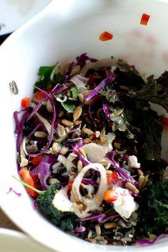 Lacinato Kale Salad with Roasted Squash | Recipe | Kale, Roasted ...