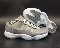 621b7382c7c4 Air Jordan 11 Low Cool Grey Medium Grey Gunsmoke White Basketball Shoe For  Sale Big Boys Youth Jeunesse Shoes