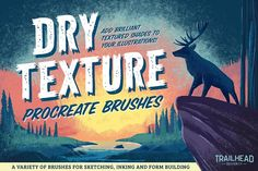 Ad: Dry Texture Brushes for Procreate by Trailhead Design Co. on Introducing the perfect dry brush pack for Procreate! This set of 30 brushes includes everything you need to pencil, ink and shade with dry Watercolor Brushes, Watercolor Texture, Tag Art, Best Procreate Brushes, Graffiti, Street Art, Ink Wash, Stippling