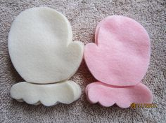 Felt MittensDIY Christmas Ornaments  Christmas by PearCreekCottage,