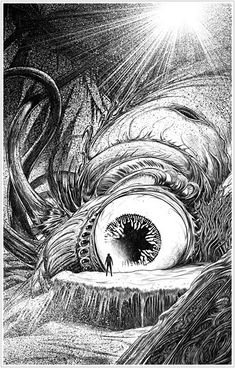 Cthulhu, by John Coulthart. An illustration from the upcoming anthology Lovecraft's Monsters. Hp Lovecraft, Lovecraft Cthulhu, Arte Horror, Horror Art, Call Of Cthulhu, Dark Fantasy, Fantasy Art, Lovecraftian Horror, Eldritch Horror