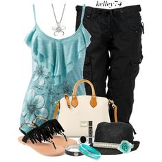 """D Satchel and Fringe Sandals"" by kelley74 on Polyvore"