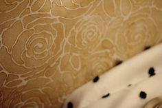 Bijou and Boheme: gold wall stencil