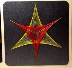 Fadengrafik Karte Geometrie 04 NEON UV Licht Garn von Rene´s Fadengrafiken auf DaWanda.com