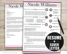 Modern Teacher Resume Template / Resume Cover by BusinessBranding, $15.00