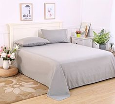 Colourful Snail 4piece Luxury Brushed Microfiber Sheet Set Includes Flat Sheet Fitted Sheet and 2 Pillowcases Ultra Soft and Easy Care Wrinkle  Fade Resistant Queen Grey *** More info could be found at the image url.