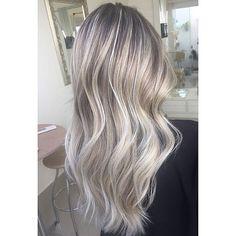Image result for white blonde hair foils