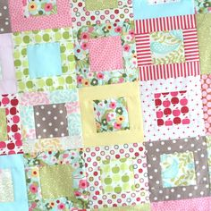 I was in need of some pink amongst my household full of BOYS! So, this baby quilt was born with these adorable fabrics. Most of the fabrics are from the Hunky Dory line by Chez Moi, but there's als…