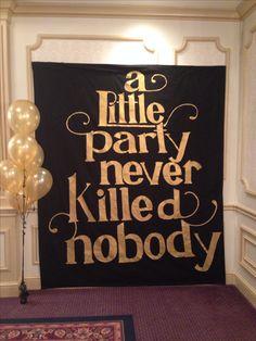 Gamma Sigma Sigma spring 2014 formal banner #GreatGatsby #ALittlePartyNeverKilledNobody