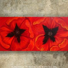 Red Poppies Big red Painting on canvas poppy triptych Contemporary Art Acrylic Original paintings on canvas by KSAVERA by KsaveraART #TrendingEtsy