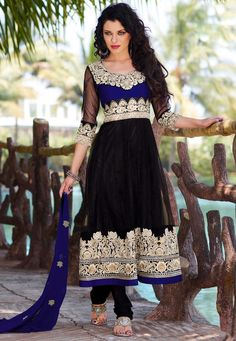 Blue and Black Indian Suit