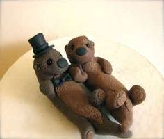 Sea Otters Custom Wedding Cake Topper RESERVED For By Theaircastle