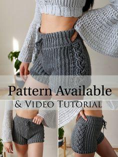 Crochet Shorts Pattern, Skirt Pattern Free, Crochet Shirt, Cute Crochet, Crochet Patterns Free Dress, Free Crochet Sweater Patterns, Diy Crochet Top, Short Pattern, Crochet Summer Tops