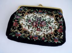 Vintage Tapestry Purse Bag by FoxandThomas on Etsy